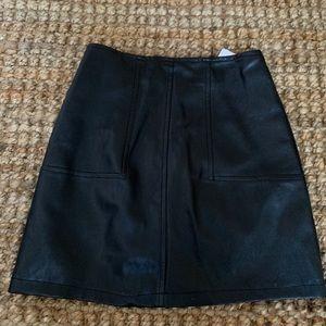 LF Pleather Mini Skirt